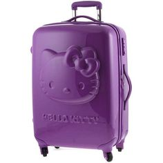 b71758b537931 Hello Kitty Violet 3D Suitcase 25 Inch Hard Shell & resistant, anti-impact  Polycarbonate.