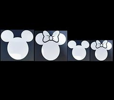 Mouse Parents  Kids Family Set of 8 Car Van or Truck White Decal Sticker Disney Inspired Mickey Minnie All Family Styles Available >>> Read more  at the image link.Note:It is affiliate link to Amazon.