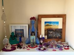 Zen Space, Hygge, Cool Style, Spirituality, Indoor, Crystals, Frame, Painting, Home Decor