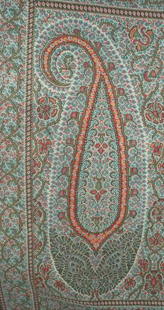 paisley shawl detail. posted by paisleypower.com Pinterest page