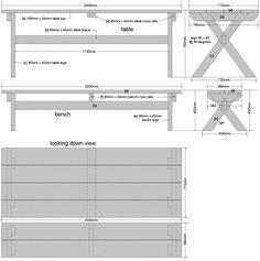 cross leg table plans