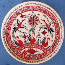 Mezen painting on wood.  This is one of my favorite of Russian style painted folk art.