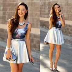 3a46349887240 Jessica R. - Savous Silver Circle Skirt