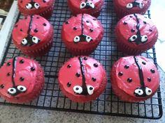 Ladybug Red Velvet Cupcakes