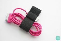 DIY Data Cable Organizer @ mintedstrawberry.blogspot.com