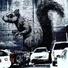 #roa #roagraffiti #graffitiart #graffitiartist #graffiti #paint #create #creative #squirrel #animals #natgeo #artist #art #artwork #awesome #amazing #cool #nyc #newyork #newyorknewyork #newyorkstateofmind #brooklyn #williamsburg #skill #godzilla #photographybyjonathonmarin #hoodshit #420 #thuglife by a_hungry_artist