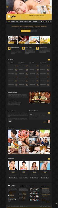 Spalon - Responsive WordPress Theme #wordpress #theme #website #template #responsive #design #webdesign #flat #flatdesign