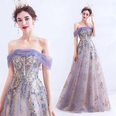 Pretty Prom Dresses, Elegant Dresses, Bridal Dresses, Formal Dresses, Bridesmaid Gowns, Sparkly Dresses, Purple Evening Dress, Evening Dresses, Cheap Prom Dresses Online