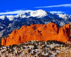Pikes Peak and Garden of the Gods, Colorado Springs, Colorado.  Repinned by An Angel's Touch, LLC, d/b/a WCF Commercial Green Cleaning Co., Denver's Property Cleaning Specialists!  http://angelsgreencleaning.net