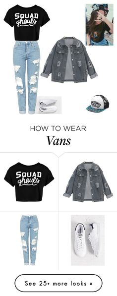 """""""Sporty Style"""" by raiseethesizzler on Polyvore featuring adidas, Topshop, Boohoo and Vans"""