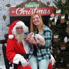 Mini pigs + Santa! Merry Country Christmas :)