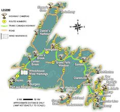 Canadian Road Trip - Newfoundland Newfoundland Map, Newfoundland And Labrador, Newfoundland Recipes, East Coast Canada, Voyage Usa, East Coast Road Trip, Canadian Travel, Atlantic Canada, O Canada