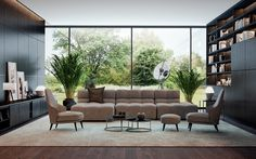 But, what exactly do you put with that lovely brown sofa to make your living room decor work for you? Brown Sofa Design, Living Room Designs, Living Spaces, Living Rooms, Living Room Furniture, Living Room Decor, Grey And Brown Living Room, Miller House, Futuristisches Design