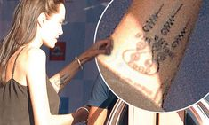 Angelina Jolie-Pitt reveals symbolic new tattoo at the Cambodia Film Festival | Daily Mail Online