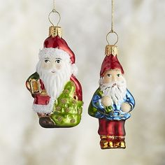 Straight from the archives, these delightfully nostalgic Santa and Elf ornaments were inspired by early 20th-century classic glass ornaments. Each hand-painted, blown-glass ornament is crafted in Poland by skilled artisans using time-honored techniques.