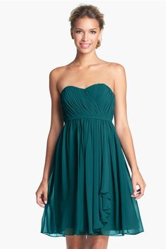 Donna Morgan 'Lindsey' Pleated Sweetheart Neckline Chiffon Dress by Donna Morgan on @nordstrom_rack