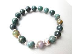 Anxiety bracelet healing stones protection by JewelryArtShop