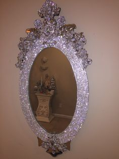 Sample only,This listing is for custom ordered rhinestone wall mirrors. These are only samples, these mirrors have already been sold Any shape size or. Diy Mirror, Wall Mirrors, Glitter Mirror, Sunburst Mirror, Glitter Paint, Custom Mirrors, Vintage Mirrors, Princess Room, Mirrored Furniture