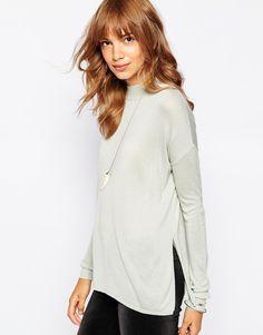 Vero Moda Fine Gauge Side Split Knitted Top