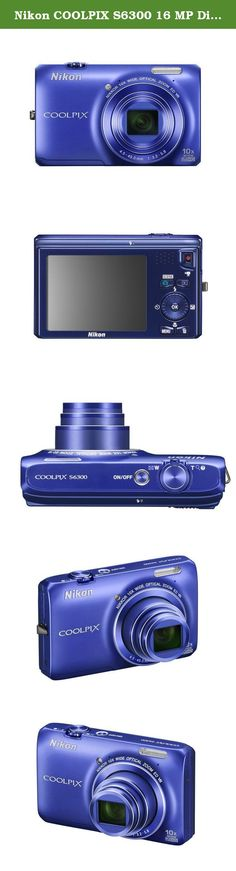 Nikon COOLPIX S6300 16 MP Digital Camera with 10x Zoom NIKKOR Glass Lens and Full HD 1080p Video (Blue). The Nikon COOLPIX S6300 has a powerful 10x optical zoom-NIKKOR glass lens and a high-resolution 16.0-megapixel CMOS sensor. Additionally, it records full HD 1080p movies with stereo sound and includes features like Easy Panorama Mode, 3D Photos, HDMI output, 2.7-inch LCD, and more.