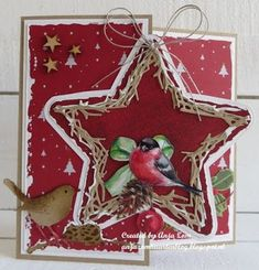 Christmas Card Crafts, Xmas Cards, White Christmas, Vintage Christmas, Marianne Design Cards, Winter Cards, Shadow Box, Card Making, Bird