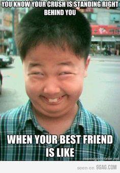 If my best friend looked like that I'd be wondering why she look like a little Asian boy lol jk