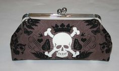 Skull and Butterflies Clutch Purse by ModDotTextiles on Etsy, $35.00 Clutch Purse, Coin Purse, Skull Wedding, Butterflies, Wallet, Trending Outfits, Unique Jewelry, Handmade Gifts, Clothes