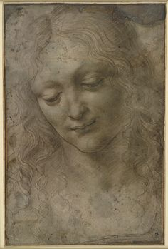 Master of the Pala Sforzesca (active c.1490–c.1500), Head of a Young Woman, 1490/1500, metalpoint, 24.2x16 cm | British Museum, London