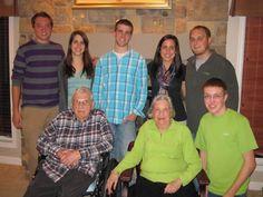 Andy, Michelle, Erik, Victoria, Luke  Grandpa, Grandma and Alec