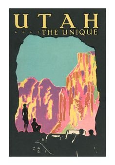 UTAH...The Unique, from a classic travel ad- Discover more at www.visitutah.com and www.discoveramerica.com