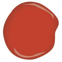 Benjamin Moore tomato tango CSP-1145 - accent wall
