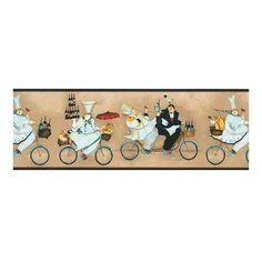 wallpaper borders for kitchens | ... - Fat Chef Wallpaper Border Jennifer Garant Kitchen sb10294b nm6733b