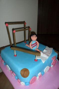gymnastic bake (www. Beautiful Cakes, Amazing Cakes, Cupcake Cookies, Cupcakes, Gymnastics Cakes, Cake Decorations, Themed Cakes, Wedding Cakes, Birthdays