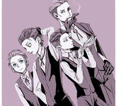 Levi, Erwin, Armin, and Eren // AoT