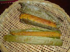 come-se: Pau-a-pique (broinha na folha de bananeira)
