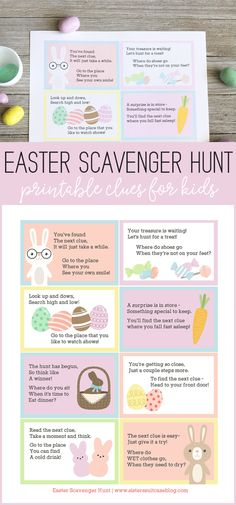 Easter Scavenger Hunt Clues for Kids
