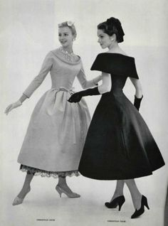 robe de cocktail modes de Dior, 1957.....repinned by Maurie Daboux ღ ✺ღ❃ღ✿