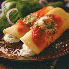 Homemade Manicotti