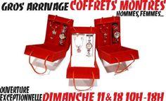 CHEZ LE GROSSISTE BIJOUX OUVERT À TOUS DE MURET AUX PORTES DE TOULOUSE, 2 MAGASINS OUVERTS CE DIMANCHE, 7/7 JUSQU'À NOËL !!! ->COFFRETS MONTRES FEMMES sur  http://www.grossiste-toulouse.com/fr/coffret-montre/4109-coffret-montre-dame.html