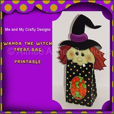 Printable Wanda The Witch Treat Bag :: Halloween :: Holidays :: Aimee Asher Boutique