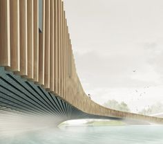 Bat-friendly bridge featuring winter roosts built in to its concrete structure.