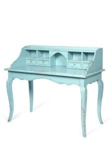 turquoise desk....yes please