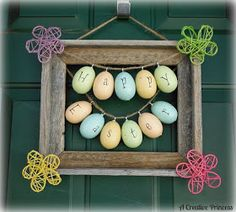 A Creative Princess: Easter Picture Frame Wreath