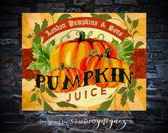 Harry Potter Pumpkin Juice Large Printable Label by StudioYniguez