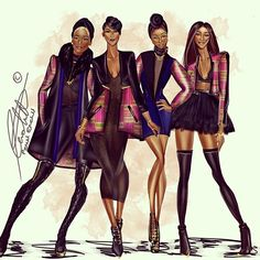 """WinterEdge my Favorite jacket is the 2nd from the left. Which is yours? #penielenchill #digitalart #fashionillustration #fashiondesign #ghana #kente…"""