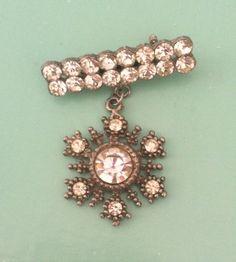 Beautiful antique vintage paste crystal medal by yorkshiretreasure