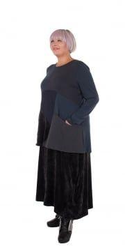 Grey Velour Skirt