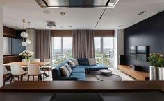 Апартаменты River View, спроектированные дизайнерами студии SVOYA Studio, находятся на берегу Днепра, Украина