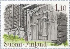Issued in 1979, Suomi - Farmgate of Kanajärvi House, Kalvola