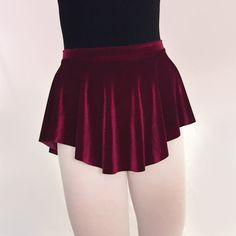 SAB skirt Wine Velvet Ballet Skirt Dark Maroon Red Stretch